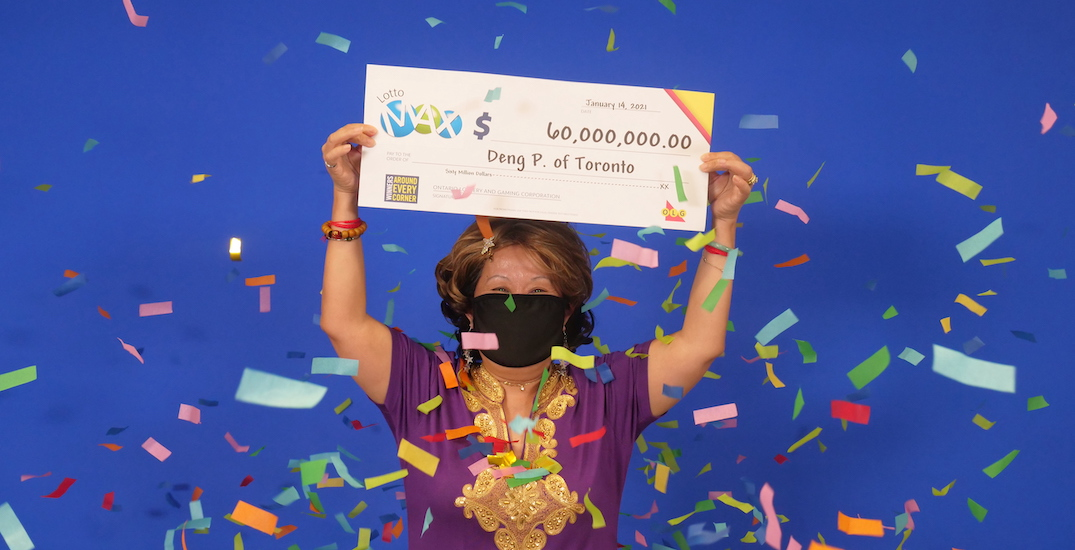 $60 million Lotto Max winner played same numbers for 20 years after husband dreams it