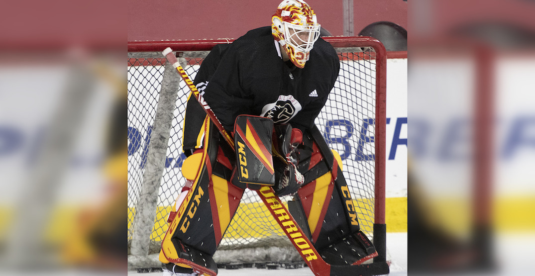 Markstrom's new Flames goalie gear is triggering Canucks fans