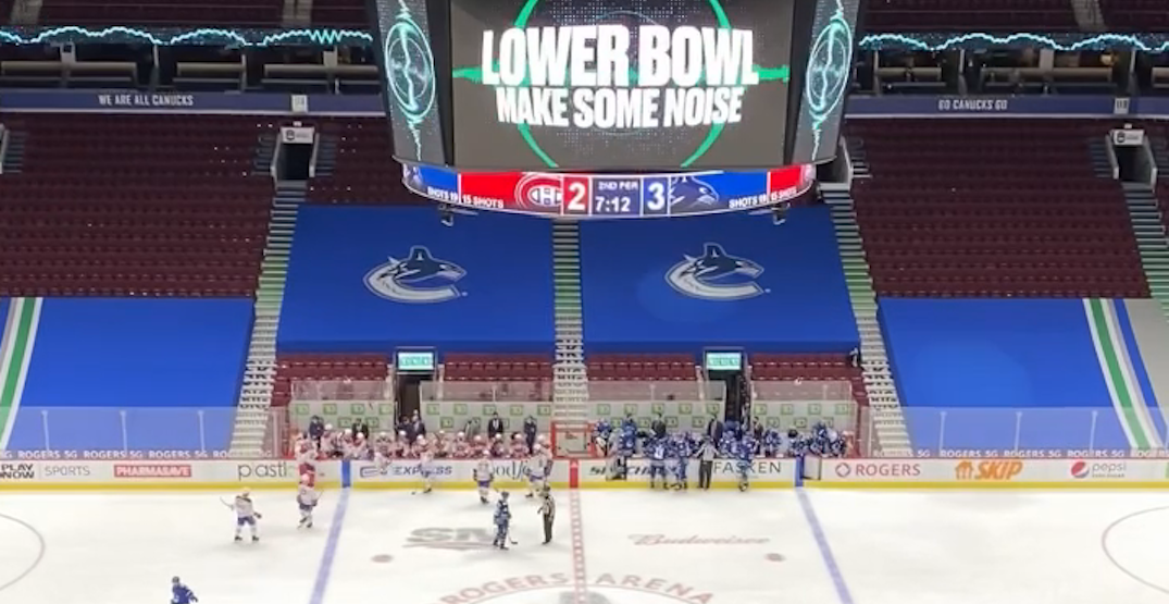 Here's what it was like being at the Canucks home opener with no fans
