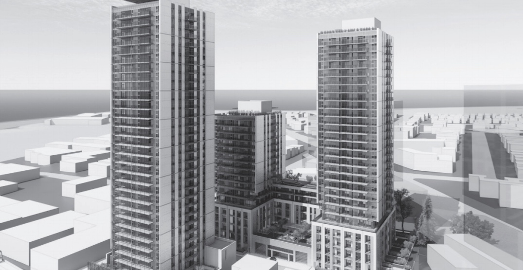 More rental homes added to three-tower proposal next to Marine Drive Station
