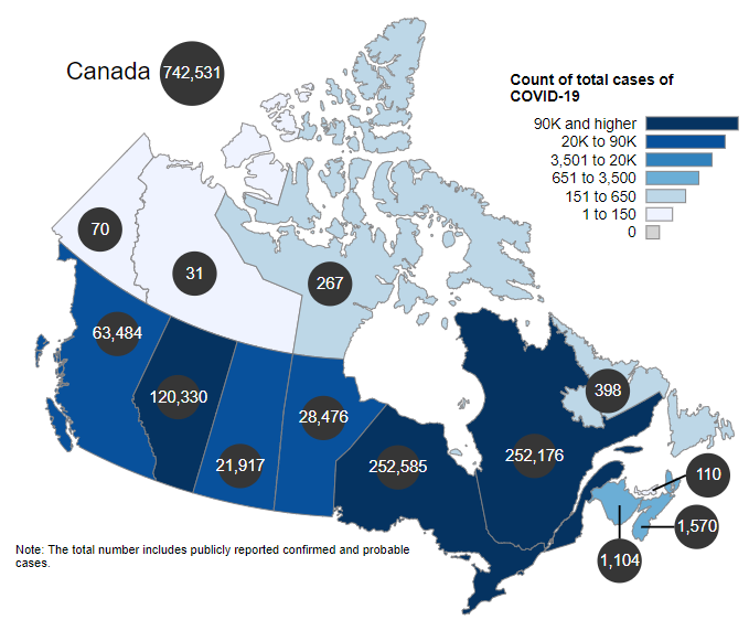 Ontario COVID-19 cases