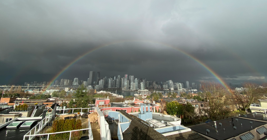 Double rainbow appears over Vancouver after hail storm pelts city (PHOTOS/VIDEO)