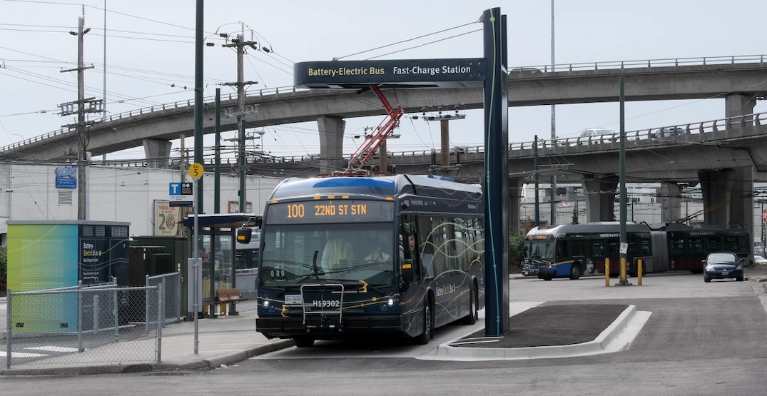 Federal government funds $16M for TransLink's first 100% electric-battery bus route