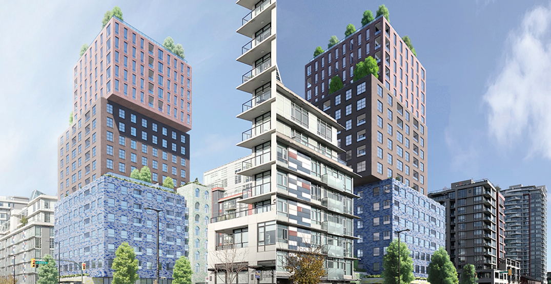 Stacked box tower with rental homes proposed for Olympic Village (RENDERINGS)