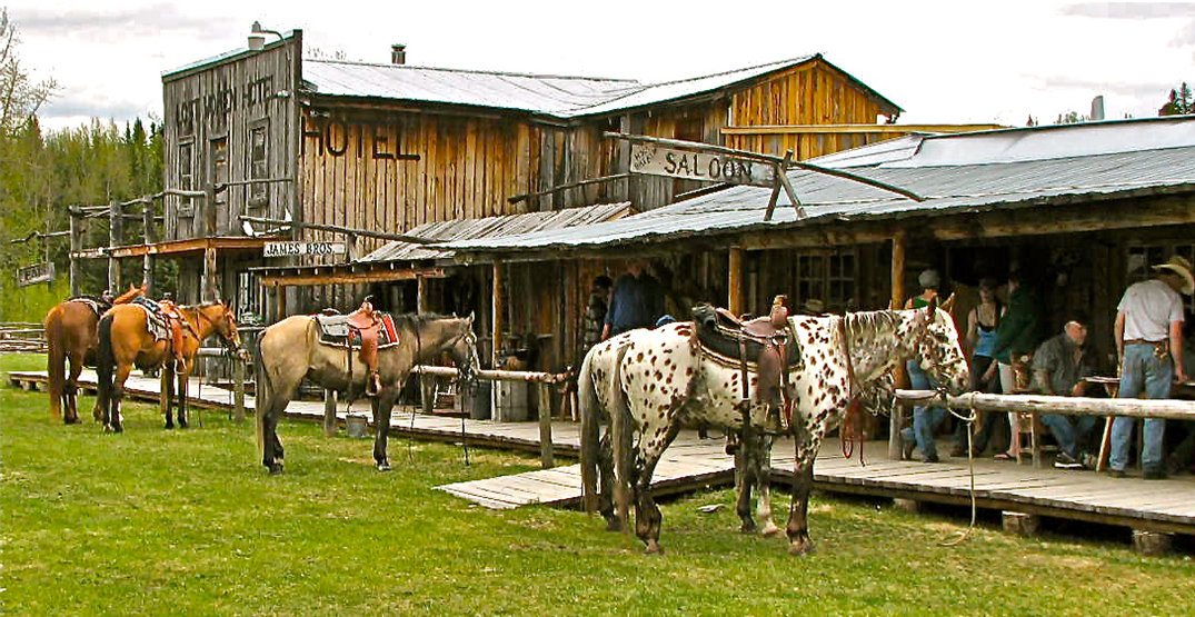 You can own this western-themed resort town that's for sale in Alberta