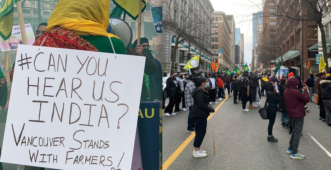 Vancouver protesters stand in solidarity with farmers in India on Global Day of Action
