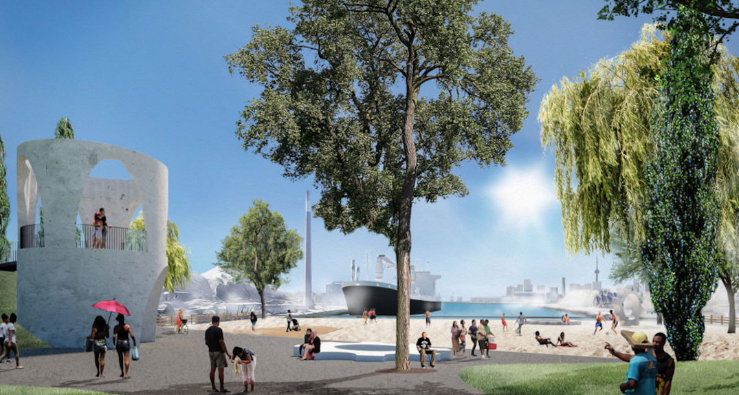 New beach and lookout park planned for Toronto's waterfront (RENDERINGS)