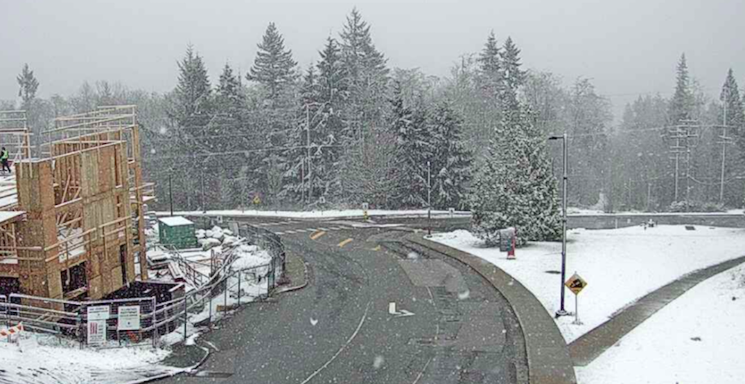 Parts of Metro Vancouver hit with snow this morning (PHOTOS/VIDEO)