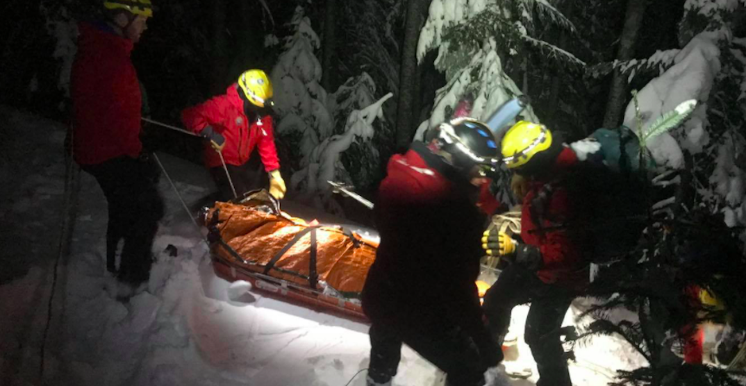 Rescue crews save stranded snowboarder caught in avalanche