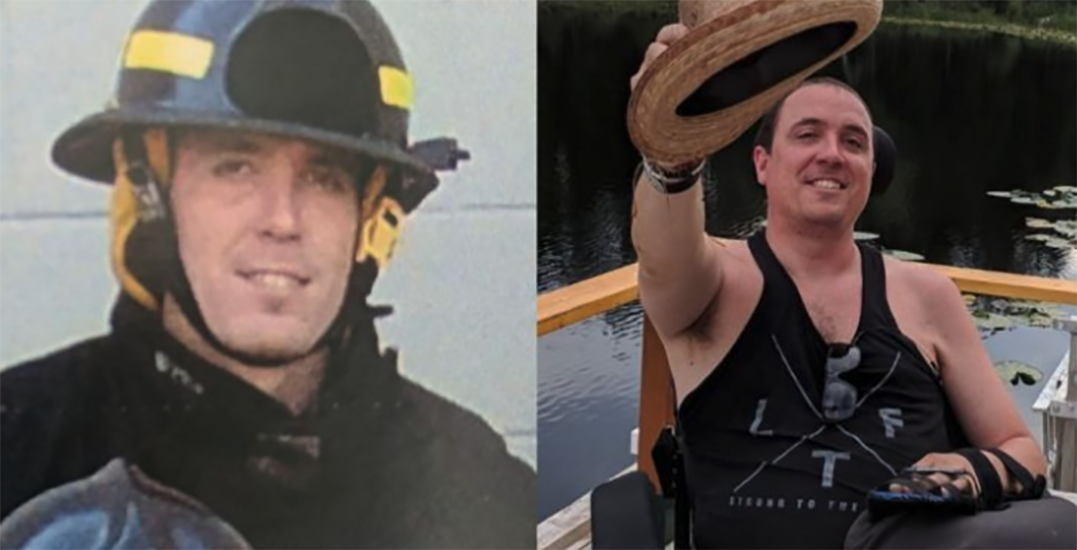 Fundraiser launched to purchase standing wheelchair for triplegic firefighter