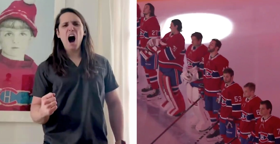 Frontline health workers announce Montreal Canadiens lineup (VIDEO)