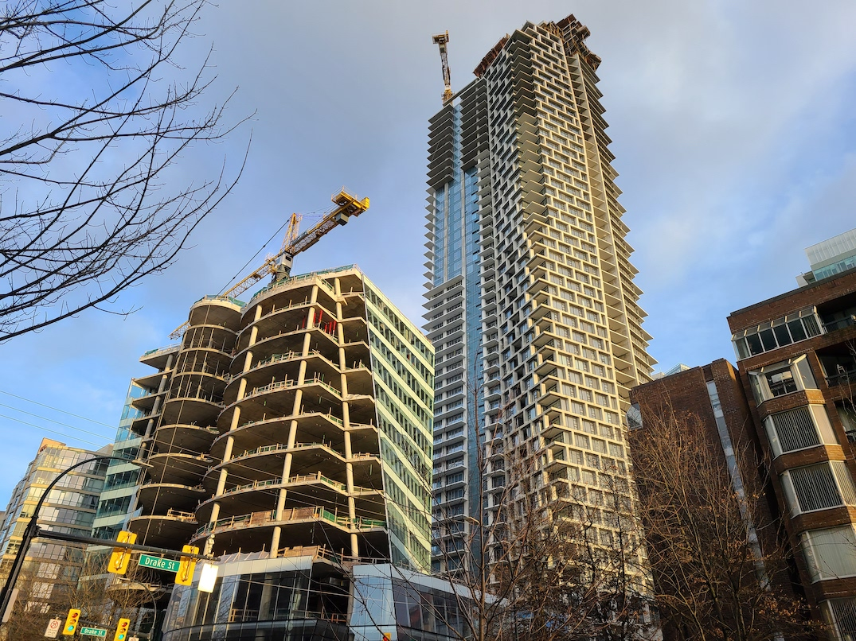 one burrard place vancouver construction