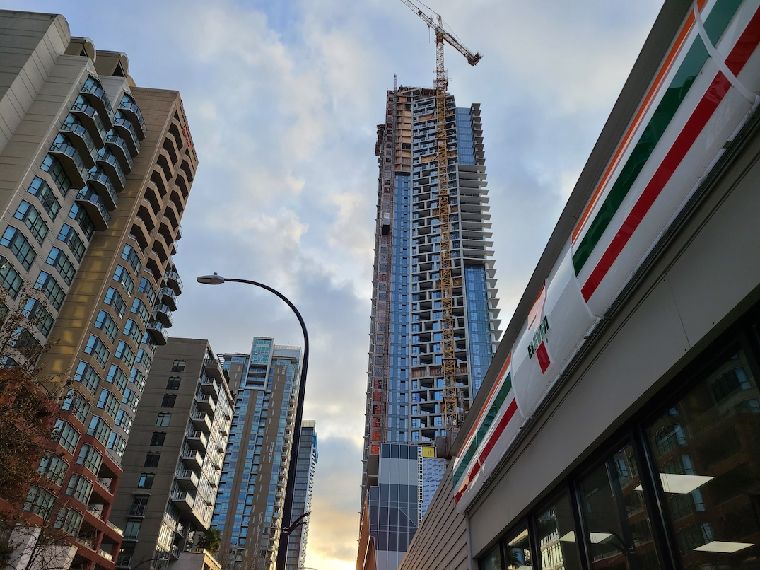 one burrard place vancouver construction