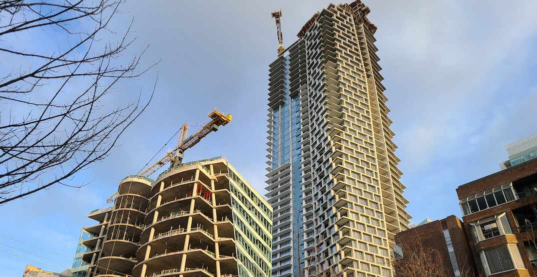 Construction on downtown Vancouver's third tallest tower has topped out (PHOTOS)