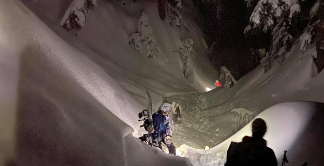 "Teen snowboarders rescued from area with ""avalanche danger"" on Mount Seymour"