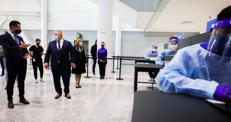 Mandatory COVID-19 testing at Toronto Pearson airport starts today