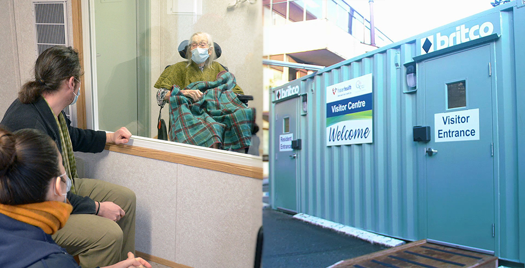 New Westminster care home transforms shipping container for family visits