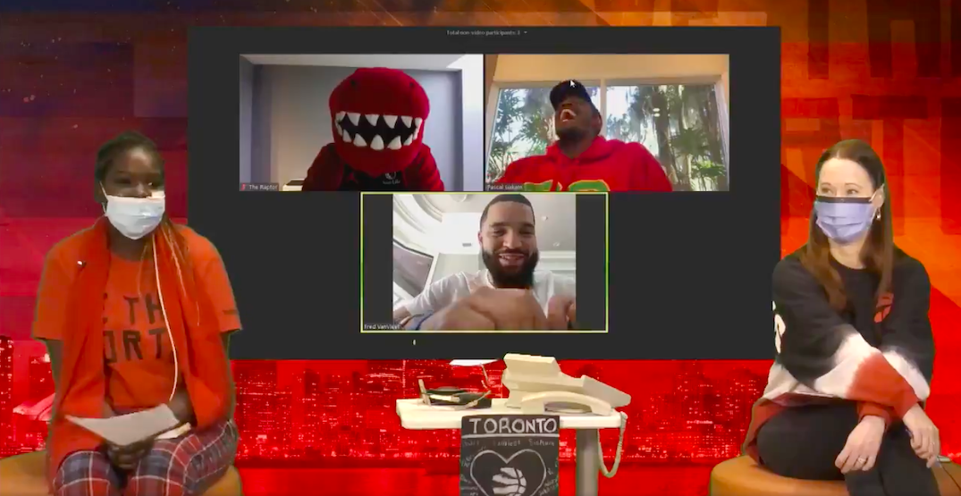 Raptors players pay virtual visit to SickKids Hospital in Toronto (VIDEO)