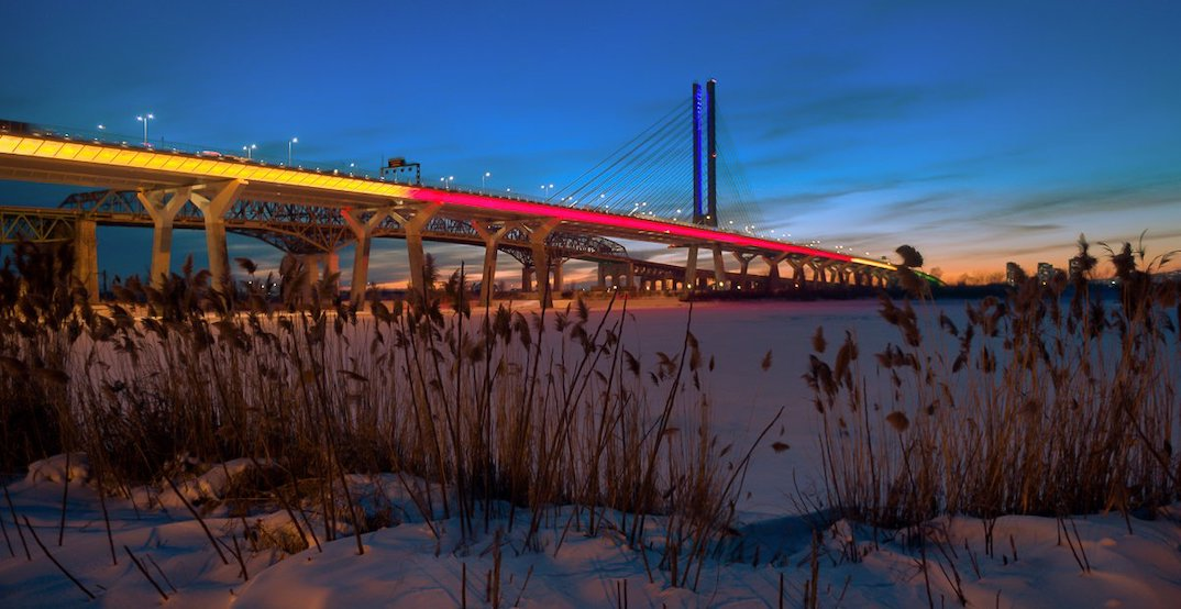 Champlain Bridge is changing its colours to honour Black History Month