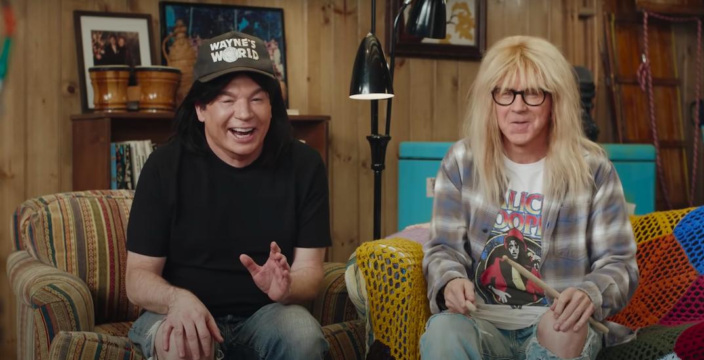 Wayne's World stars reunite for hilarious Super Bowl ads (VIDEO)