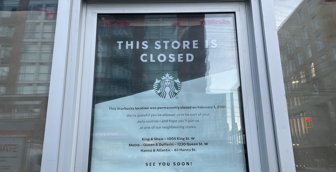 Permanently closed Starbucks locations across Toronto (MAP)