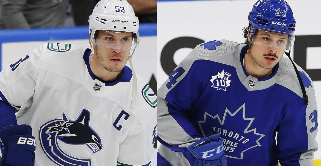 Canucks begin three-game series against the Leafs tonight