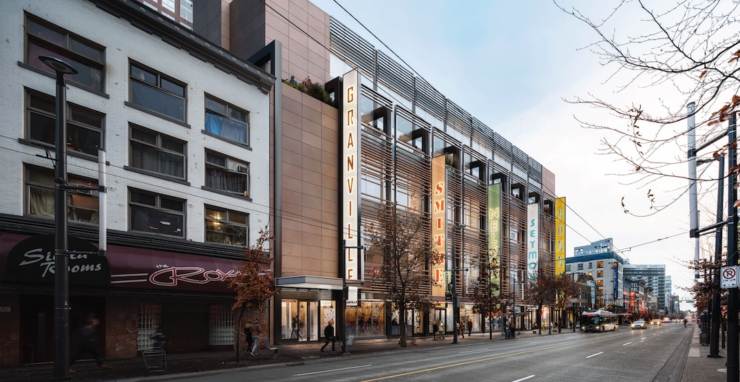 Additional height sought for Granville Street office and retail redevelopment