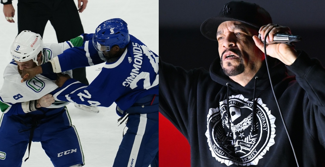 Ice T has lots of questions about this Canucks-Leafs hockey fight
