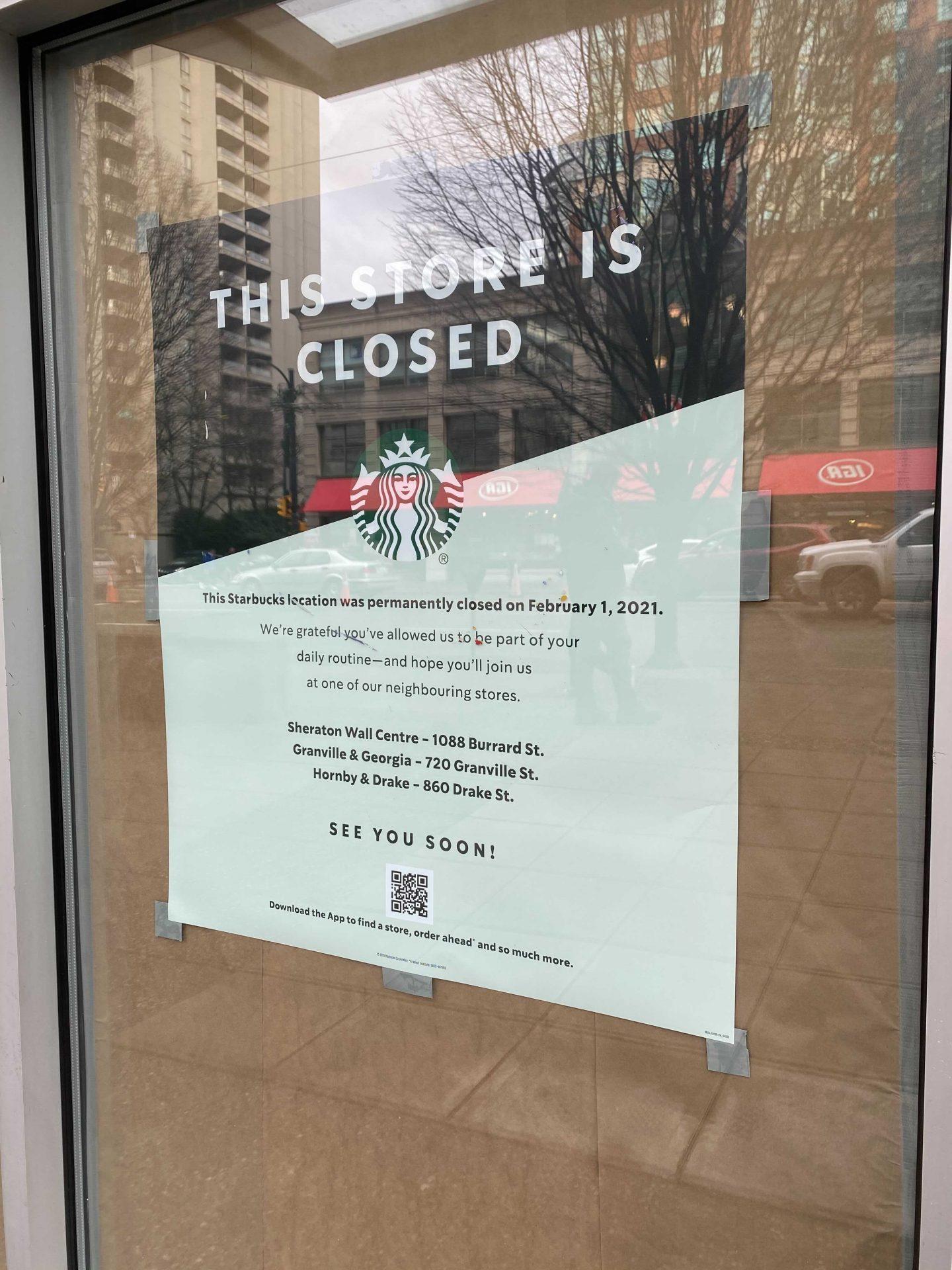 Starbucks closed