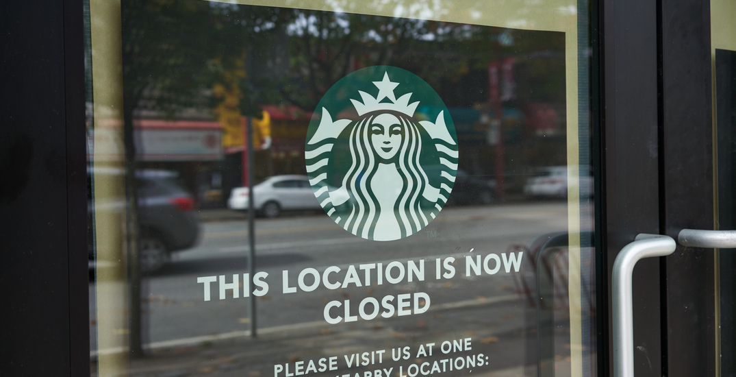 The Starbucks at the Scotiabank Theatre has permanently closed