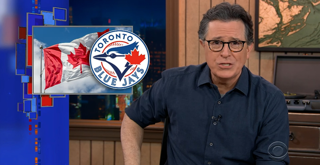 Blue Jays (sort of) get a shout out from Stephen Colbert