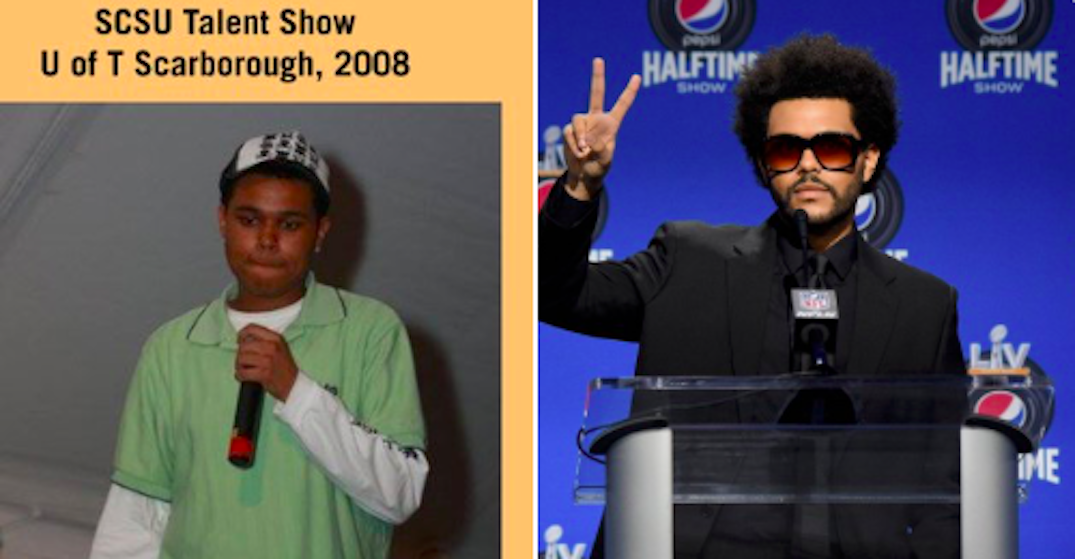 Photo of The Weeknd shows his journey from Scarborough to the Super Bowl