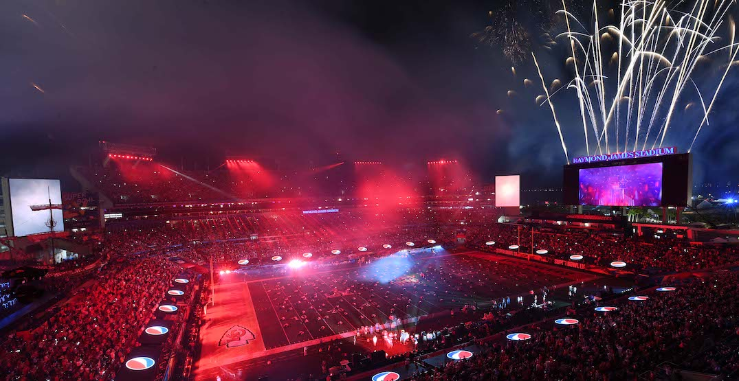 The Weeknd halftime show full field