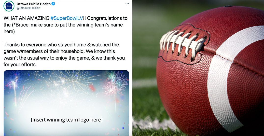 Ottawa Public Health pranked us with this clever Super Bowl tweet