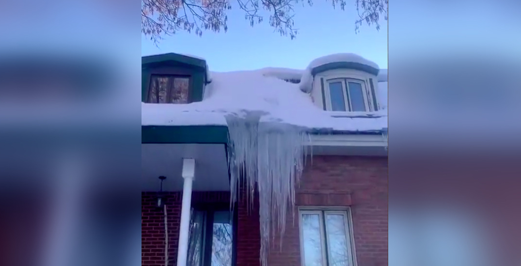 TikTok rating Montreal's deadly icicles goes viral (VIDEO)