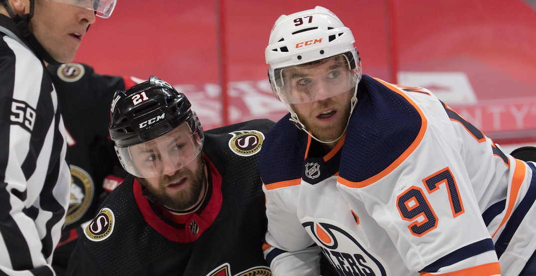 Oilers win without point from McDavid and Draisaitl for first time in 1,170 days