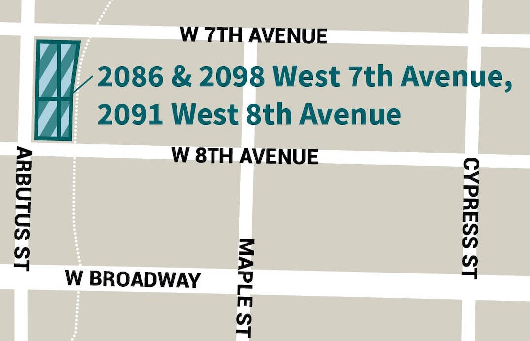 2086-2098 West 7th Avenue 2091 West 8th Avenue Vancouver Supportive Housing