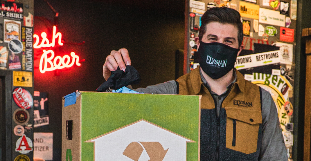 Recycle your used PPE at Elysian Brewing to earn a free pint