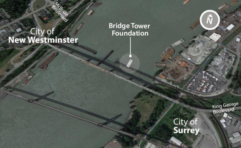 pattullo bridge construction february 2021