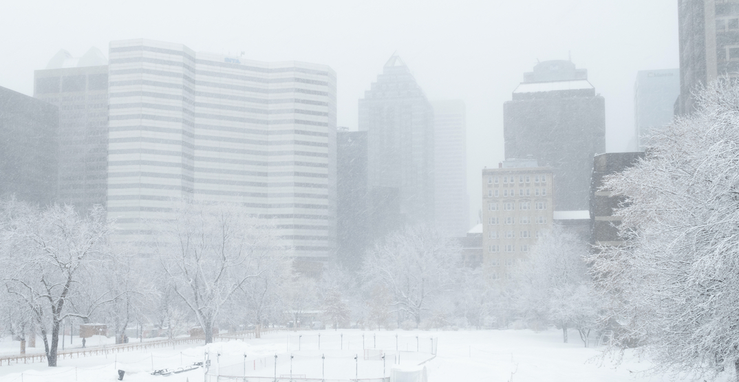 Snowfall warning in effect for Montreal as up to 15 cm of snow expected