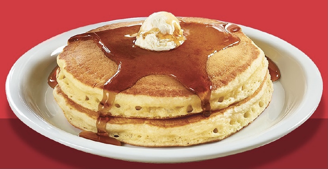 Denny's is offering FREE pancakes across Canada today