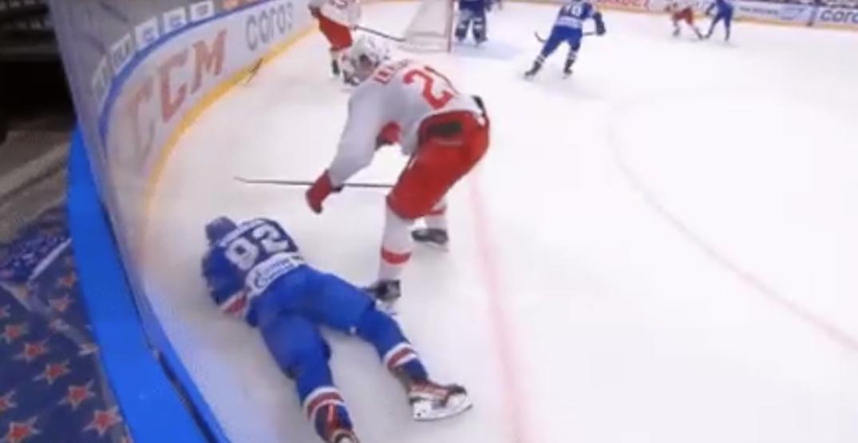 Canucks prospect Podkolzin injured after nasty hit to head