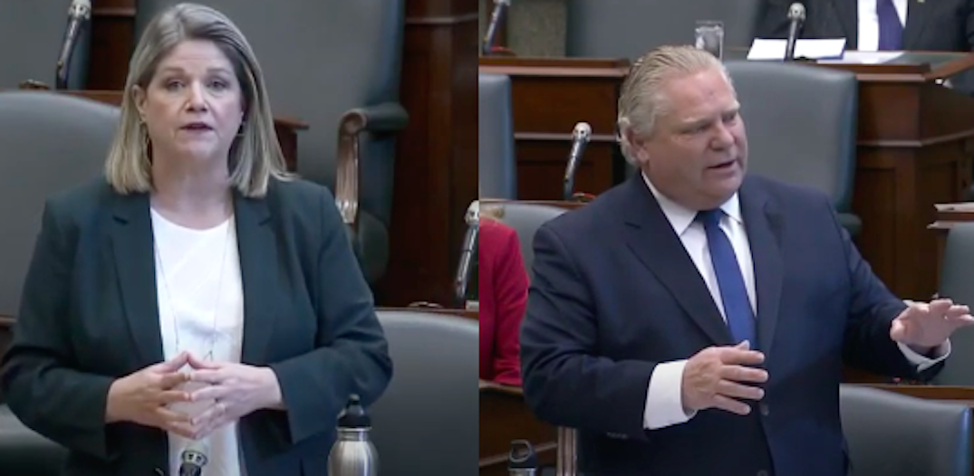 """Ford criticized for """"misogynistic attack"""" against NDP Leader Andrea Horwath"""