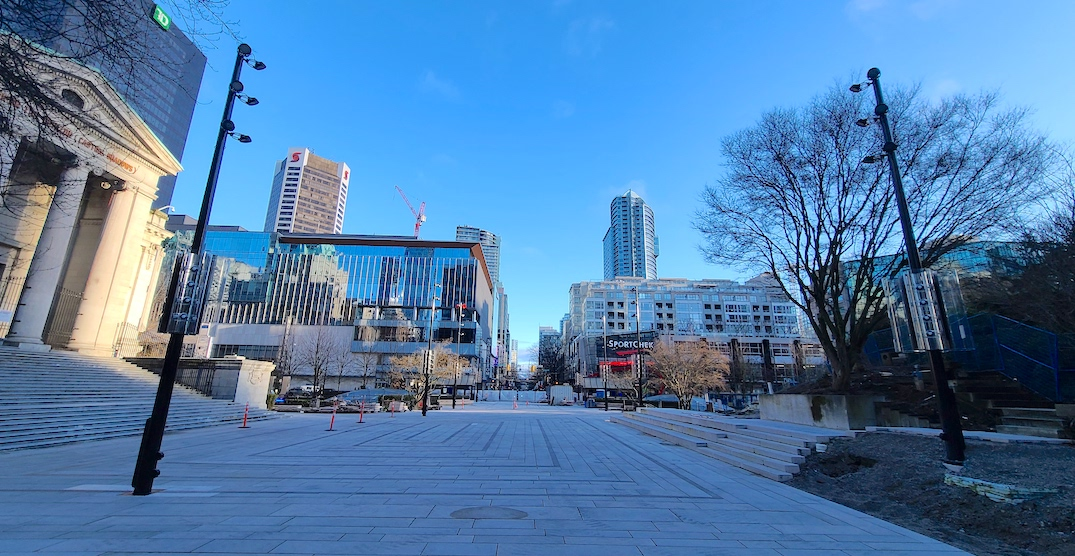 Robson Square's new street-level plaza now nearing completion (PHOTOS)