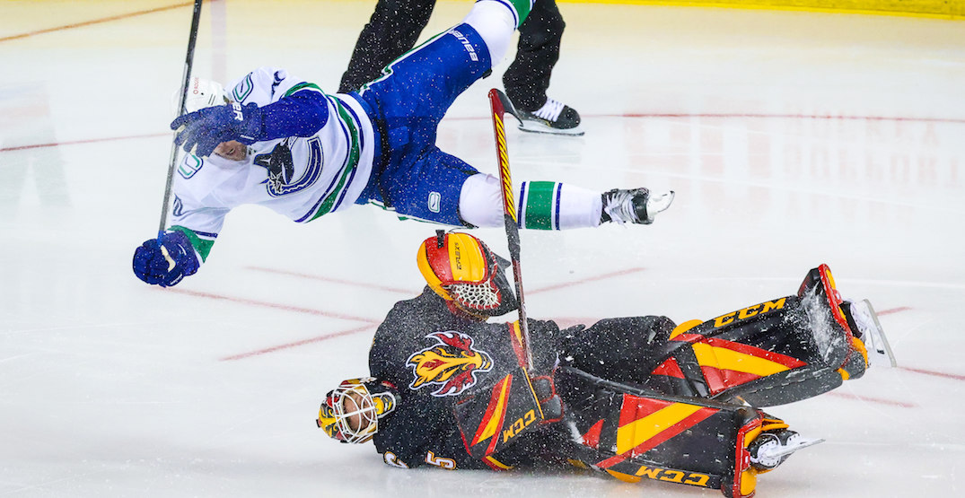 Canucks fans react to wild Jacob Markstrom collision (VIDEO)
