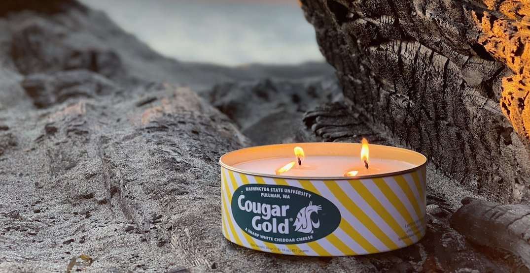 Washington woman makes candles in recycled Cougar Gold tins for charity