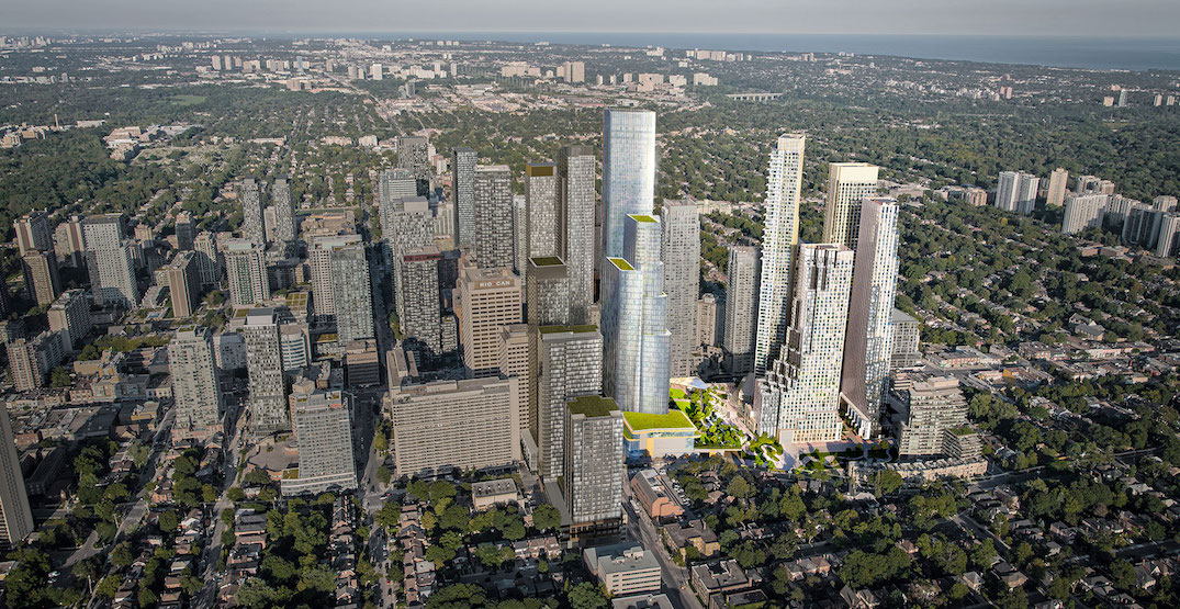 Massive five-tower Yonge and Eglinton development will reach 70 storeys