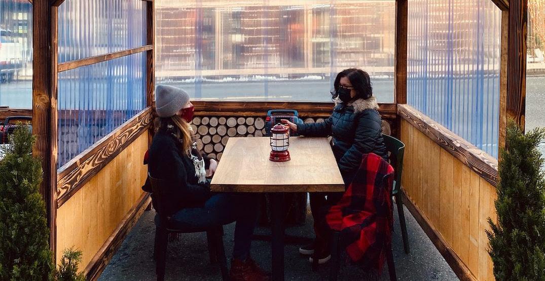 Dine in a sidewalk cabin at Seattle's Eden Hill Restaurant