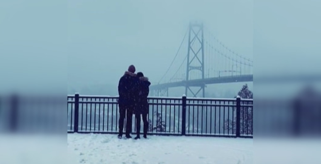 Vancouver photographer searching for couple in sweet snowstorm picture