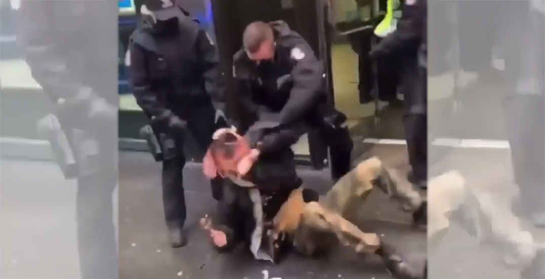Review to be conducted after footage shows Indigenous protesters thrown by VPD officers